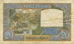20 Francs SCIENCE ET TRAVAIL FRANCE  1941 F.12.15 TTB