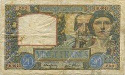 20 Francs SCIENCE ET TRAVAIL FRANCE  1941 F.12.15 TB+