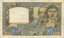 20 Francs SCIENCE ET TRAVAIL FRANCE  1941 F.12.16 TTB