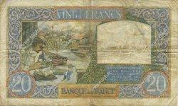 20 Francs SCIENCE ET TRAVAIL FRANCE  1941 F.12.16 TB+