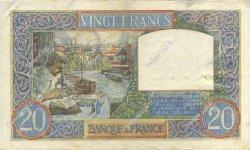 20 Francs SCIENCE ET TRAVAIL FRANCE  1941 F.12.18 TTB à SUP