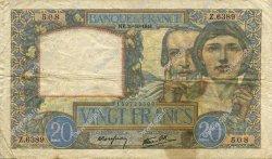 20 Francs SCIENCE ET TRAVAIL FRANCE  1941 F.12.19 TB+