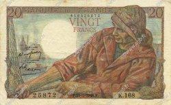 20 Francs PÊCHEUR FRANCE  1948 F.13.12 TTB+
