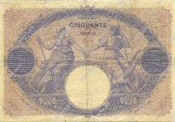 50 Francs BLEU ET ROSE FRANCE  1898 F.14.10 TB+