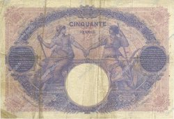 50 Francs BLEU ET ROSE FRANCE  1917 F.14.30 pr.TTB