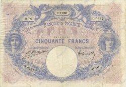 50 Francs BLEU ET ROSE FRANCE  1923 F.14.36 TB