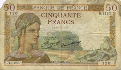 50 Francs CÉRÈS FRANCE  1935 F.17.07 B