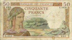 50 Francs CÉRÈS FRANCE  1935 F.17.08 pr.TB