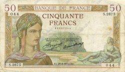 50 Francs CÉRÈS FRANCE  1935 F.17.15 B