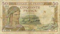 50 Francs CÉRÈS FRANCE  1935 F.17.16 B+