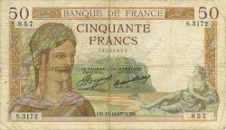 50 Francs CÉRÈS FRANCE  1935 F.17.18 B+