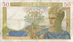 50 Francs CÉRÈS modifié FRANCE  1938 F.18.07 pr.TB