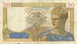 50 Francs CÉRÈS modifié FRANCE  1938 F.18.10 TB+