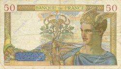 50 Francs CÉRÈS modifié FRANCE  1938 F.18.14 TTB