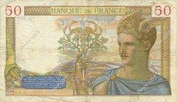 50 Francs CÉRÈS modifié FRANCE  1938 F.18.18 TB