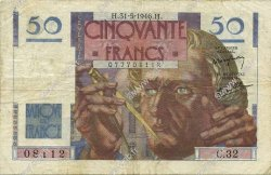 50 Francs LE VERRIER FRANCE  1946 F.20.05 TB