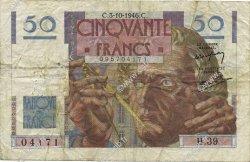 50 Francs LE VERRIER FRANCE  1946 F.20.06 pr.TB
