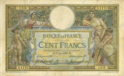 100 Francs LUC OLIVIER MERSON sans LOM FRANCE  1909 F.23.01 TB+