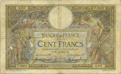 100 Francs LUC OLIVIER MERSON sans LOM FRANCE  1915 F.23.07 pr.B