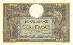 100 Francs LUC OLIVIER MERSON sans LOM FRANCE  1915 F.23.07 SUP à SPL