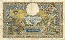 100 Francs LUC OLIVIER MERSON sans LOM FRANCE  1921 F.23.14 TB+ à TTB