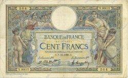 100 Francs LUC OLIVIER MERSON sans LOM FRANCE  1923 F.23.16 pr.TB