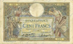 100 Francs LUC OLIVIER MERSON grands cartouches FRANCE  1924 F.24.02 pr.TB