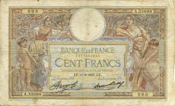100 Francs LUC OLIVIER MERSON grands cartouches FRANCE  1937 F.24.16 B+