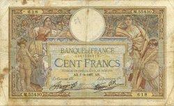 100 Francs LUC OLIVIER MERSON type modifié FRANCE  1937 F.25.01 B