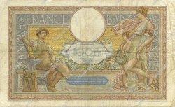 100 Francs LUC OLIVIER MERSON type modifié FRANCE  1937 F.25.02 B+
