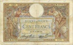 100 Francs LUC OLIVIER MERSON type modifié FRANCE  1937 F.25.03 TB