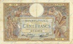 100 Francs LUC OLIVIER MERSON type modifié FRANCE  1937 F.25.06 TTB