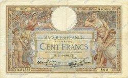 100 Francs LUC OLIVIER MERSON type modifié FRANCE  1938 F.25.09 TB+