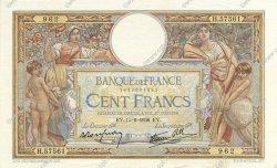 100 Francs LUC OLIVIER MERSON type modifié FRANCE  1938 F.25.10 SUP+