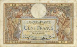 100 Francs LUC OLIVIER MERSON type modifié FRANCE  1938 F.25.14 TB