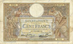 100 Francs LUC OLIVIER MERSON type modifié FRANCE  1938 F.25.23 TB