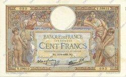 100 Francs LUC OLIVIER MERSON type modifié FRANCE  1938 F.25.23 SUP