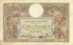 100 Francs LUC OLIVIER MERSON type modifié FRANCE  1938 F.25.26 TB+