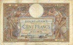 100 Francs LUC OLIVIER MERSON type modifié FRANCE  1939 F.25.39 TB