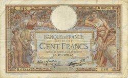 100 Francs LUC OLIVIER MERSON type modifié FRANCE  1939 F.25.40 TB