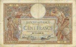 100 Francs LUC OLIVIER MERSON type modifié FRANCE  1939 F.25.43 TB