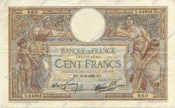 100 Francs LUC OLIVIER MERSON type modifié FRANCE  1939 F.25.43