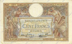 100 Francs LUC OLIVIER MERSON type modifié FRANCE  1939 F.25.46 TTB
