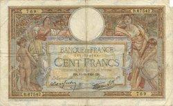 100 Francs LUC OLIVIER MERSON type modifié FRANCE  1939 F.25.49 TB