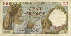 100 Francs SULLY FRANCE  1939 F.26.02 TTB