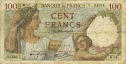 100 Francs SULLY FRANCE  1939 F.26.08 B