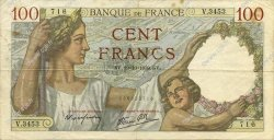 100 Francs SULLY FRANCE  1939 F.26.11 TTB