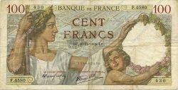 100 Francs SULLY FRANCE  1939 F.26.16 TB