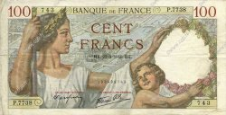100 Francs SULLY FRANCE  1940 F.26.23 TTB