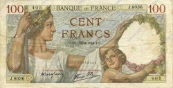 100 Francs SULLY FRANCE  1940 F.26.23 pr.TTB
